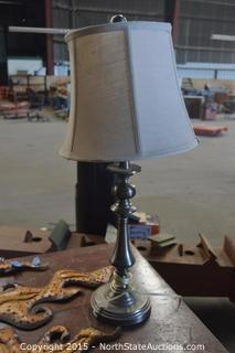 Coffee Table and Lamp