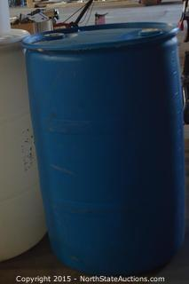 4 Plastic 55 Gallon Drums