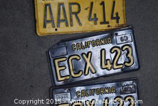 Old Style Licence Plates