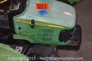 John Deer Tractor with Trailer and Bucket