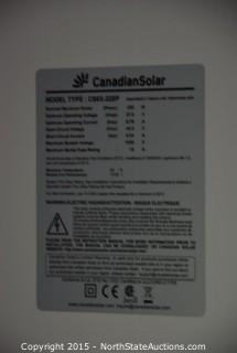 3 Canadian Solar Panells