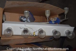 Lot of Light Bulbs and Light Fixture