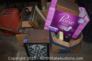 Mixed Lot of House Hold Iteams and Antique Projector