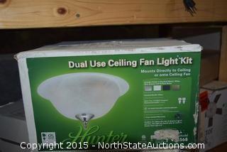 Dual Use Ceiling Fan Light Kit