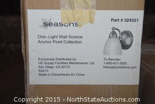 One Light Wall Sconce Anchor Point Collections