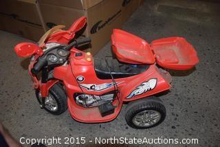 Battery Operated 3 Wheeled Kids Bike