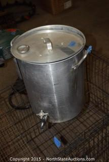 Dog Cage and Stock Pot