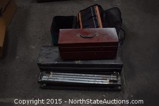 Mixed Lot of Tool Boxes and Tool Bags