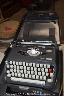 Antique Type Wrighter and CD Player