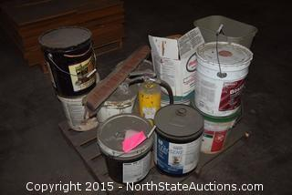Mixed Lot of Preserva Wood, Henry Flooring, and All Purpose Joint Compound