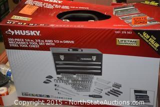 Husky 200 Piece Tool Set with Steel Tool Chest