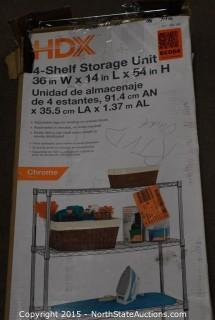 HDX 4-Shelf Storage Unit
