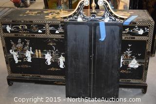 Buffet/dresser with mirror