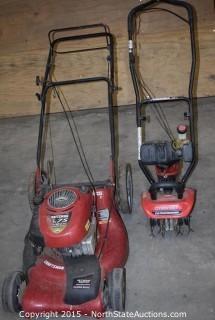Craftsman lawnmower and Troy-bilt Cultivator/edger
