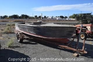 1951 Chris Craft 19' runabout Wooden Boat and Trailer