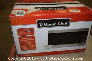 Magic Chef 1.1 Cu ft Countertop Microwave Oven