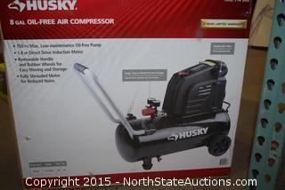 HUSKY 8-Gallon Oil-Free Air Compressor
