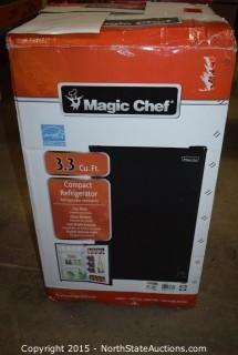 Magic Chef 3.3 Cu ft Compact Refrigerator