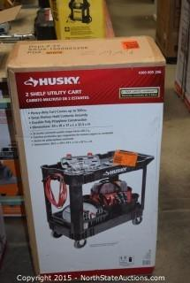 HUSKY  2 Shelf Utility Cart