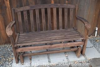 Rocking Wooden Bench