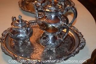 Reed Barton Silver Plated Tea Set