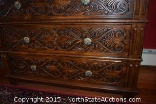 Henredon wood carved dresser