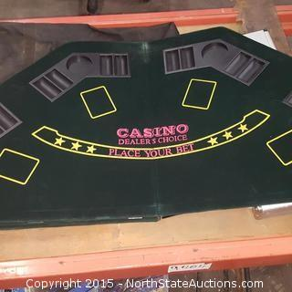 Poker/Black Jack Table Topper and Accesories