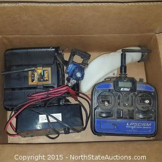 Box of Remote Control Airplane Parts