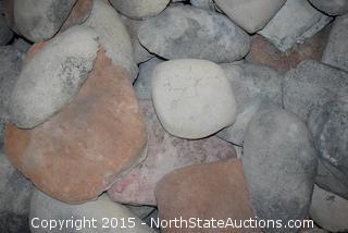 Small Bin of Decorative Rocks