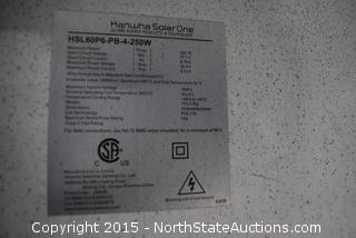 Lot of Hanwha SolarOne Solar Panels