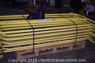 Lot of Rooftop Safety Railing and Weighed Stands