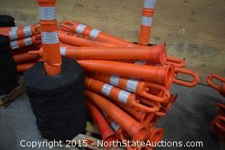 Lot of Safety Cones and Weighed Bases