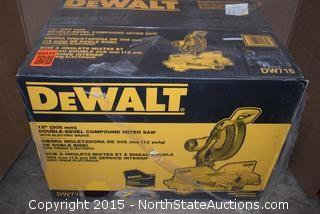 "DeWalt 12"" Double-Bevel Compound Miter Saw"
