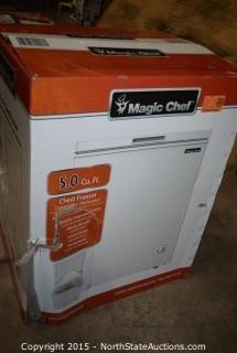 Magic Chef 5.0 Cu Ft Chest Freezer