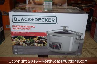 Black+Decker Portable Digital Slow Cooker