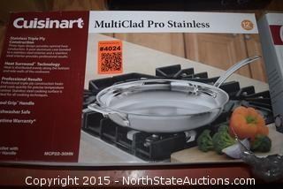 "Cuisinart Multiclad Pro Stainless 12"" Skillet"