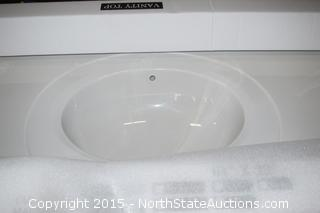 Design House Cultured Marble Vanity Top