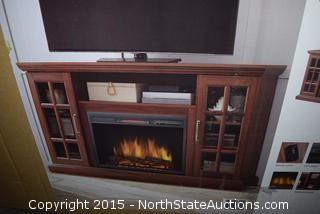 Home Decorations Collection 59in Infrared Media Electric Fireplace