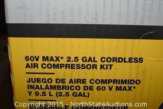 DeWalt 2.5 Gal Cordless Air Compressor Kit