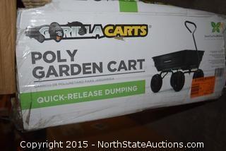 Gorilla Carts Poly Garden Cart