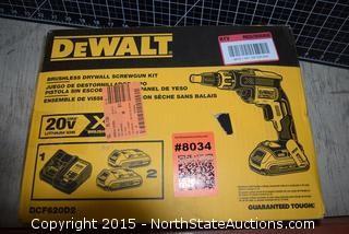 DeWalt Brushless Drywall Screwgun Kit