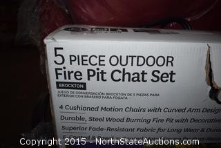 Better Homes and Gardens 5 Piece Outdoor Fire Pit Chat Set