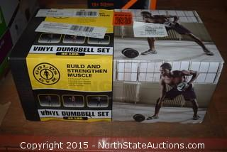 Golds Gym 40LBS Vinyl Dumbbell Set
