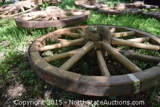 Lot of 2 Wagon Wheels