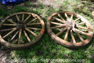 Lot of 2 Wagon Wheels