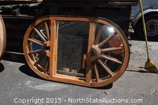 Wagon Wheel Table Top/Chandelier Mirror