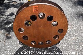 Wagon Wheel Wine Bottle Holder