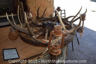 Wagon Wheel/Antler/Lantern  Chandelier