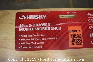 Husky 46in 9 Drawer Mobile Workbench