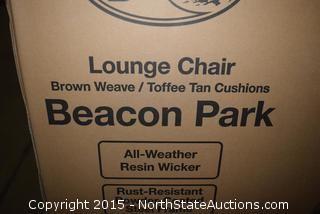 Hampton Bay Beacon Park Lounge Chair and Ottoman